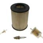 Tune up Kit for Ezgo Gas 2 cycle 1976-94, kit includes an Air Filter, Fuel Filter, Gas/Oil Filter and Spark Plug.