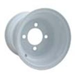 "Wheel-8x3.75"" Steel Wheel-White"